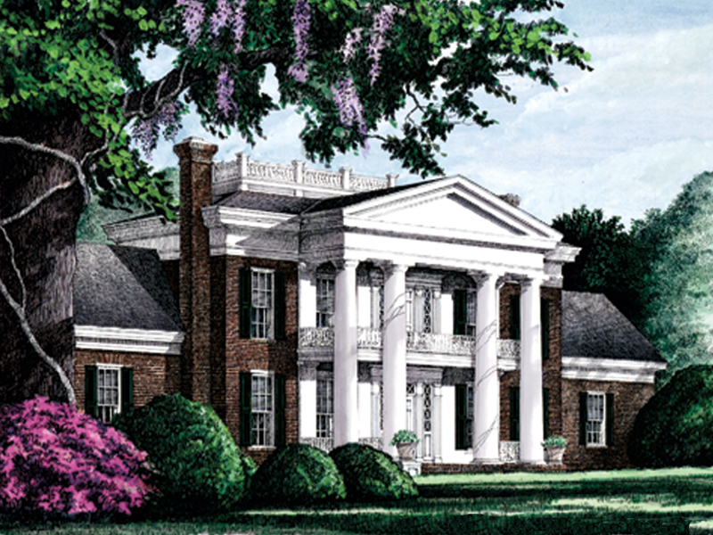 plantation house plan with 3754 square feet and 4 bedrooms