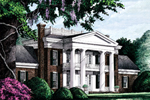 Southern Plantation House Plan Front Image - 128D-0005 | House Plans and More
