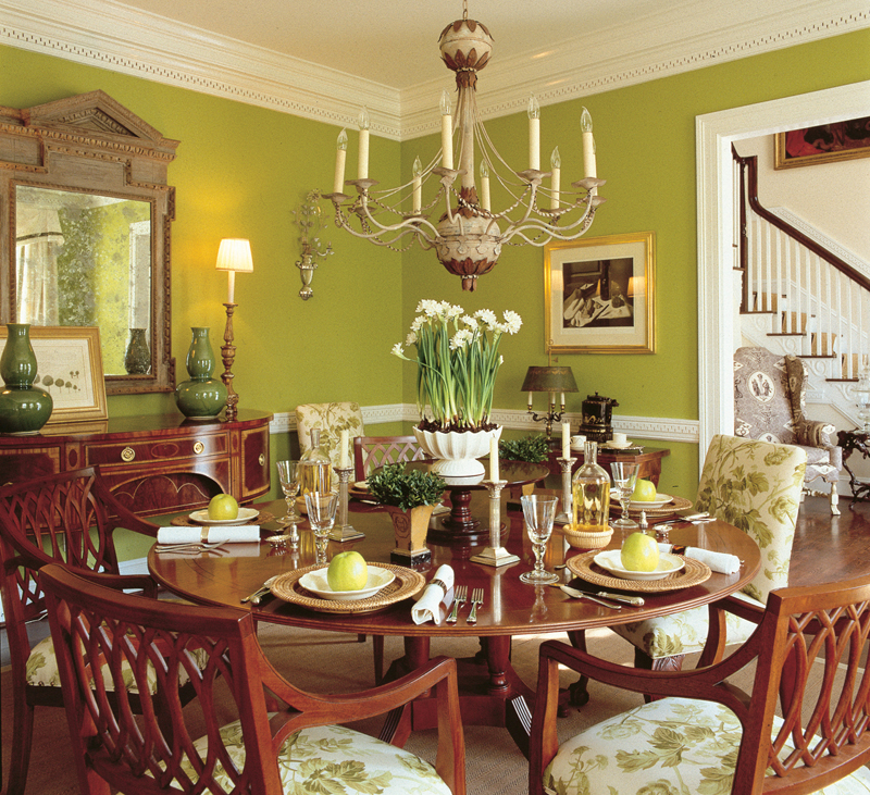 Southern Plantation House Plan Dining Room Photo 01 128D-0007