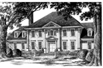 Southern Plantation Plan Front Image of House - 128D-0007 | House Plans and More