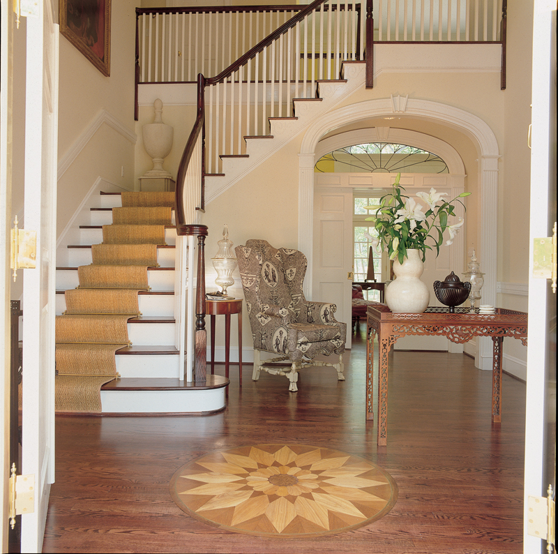 Luxury House Plan Stairs Photo 01 128D-0007