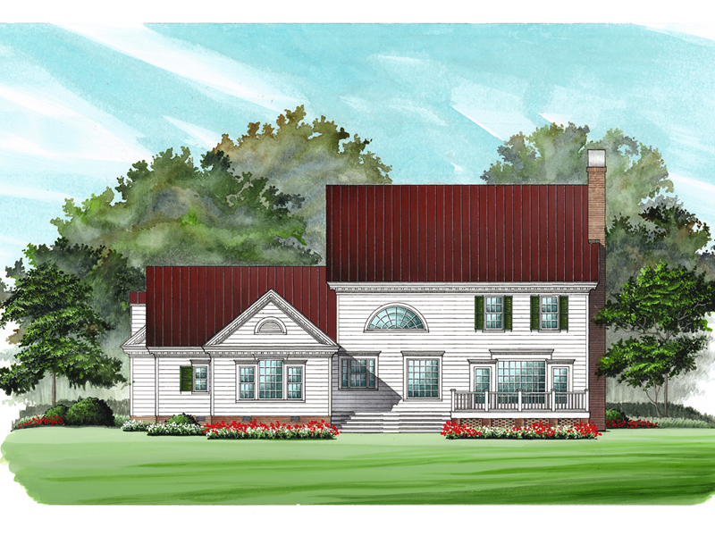 Plantation House Plan Front Image 128D-0008