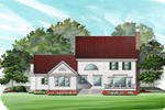 Southern Plantation Plan Front Image - 128D-0008 | House Plans and More