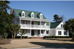 Southern Plantation Plan Front of Home - 128D-0008 | House Plans and More