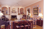 Southern Plantation Plan Great Room Photo 01 - 128D-0008 | House Plans and More