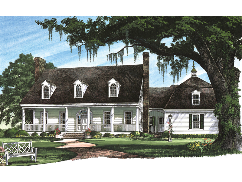 Traditional House Plan Front Image 128D-0009