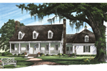 Cape Cod and New England Plan Front Image - 128D-0009 | House Plans and More
