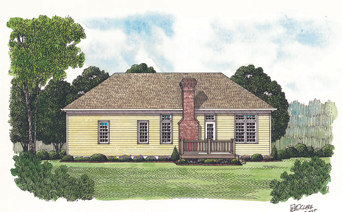 Ranch House Plan Color Image of House - 129D-0001 | House Plans and More