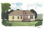 Traditional House Plan Color Image of House - 129D-0001 | House Plans and More