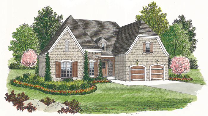 Cabin & Cottage House Plan Front of Home - 129D-0002 | House Plans and More