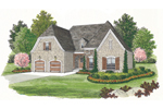 Ranch House Plan Front of Home - 129D-0002 | House Plans and More