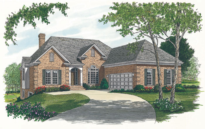 Ranch House Plan Front Image - 129D-0007 | House Plans and More