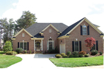Ranch House Plan Front of Home - 129D-0007   House Plans and More