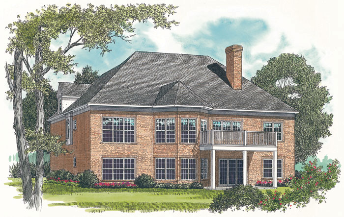 Traditional House Plan Color Image of House - 129D-0007 | House Plans and More