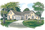Ranch House Plan Front Image - 129D-0011 | House Plans and More