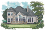 European House Plan Color Image of House - 129D-0012 | House Plans and More