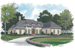 Ranch House Plan Front Image - 129D-0014 | House Plans and More