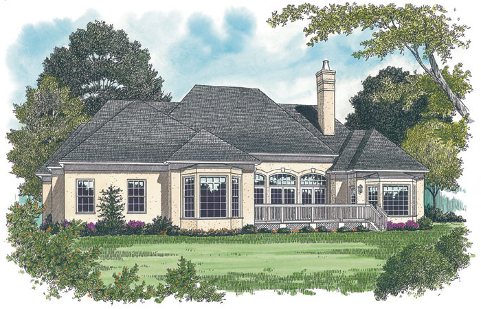 Ranch House Plan Color Image of House - 129D-0014 | House Plans and More
