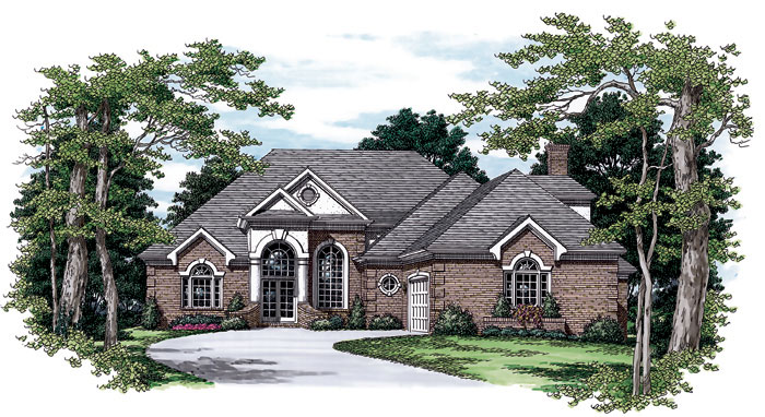 Ranch House Plan Front Image - 129D-0017 | House Plans and More
