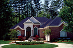 Ranch House Plan Front of Home - 129D-0017 | House Plans and More