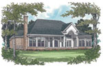 Traditional House Plan Color Image of House - 129D-0017 | House Plans and More