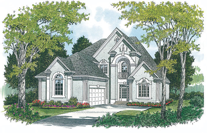 Traditional House Plan Front Image - 129D-0018 | House Plans and More