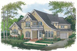 European House Plan Front Image - 129D-0019 | House Plans and More
