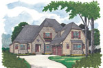 Early American House Plan Front Image - 129D-0020 | House Plans and More