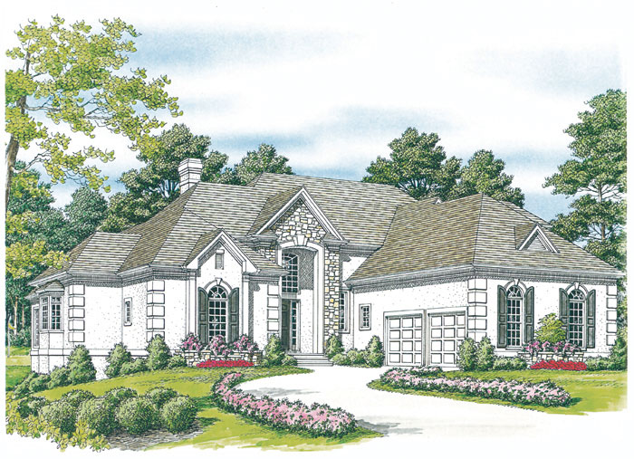 Traditional House Plan Front Image 129D-0021