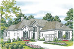 Arts and Crafts House Plan Front Image - 129D-0021 | House Plans and More