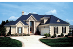 Arts & Crafts House Plan Front of Home - 129D-0021 | House Plans and More