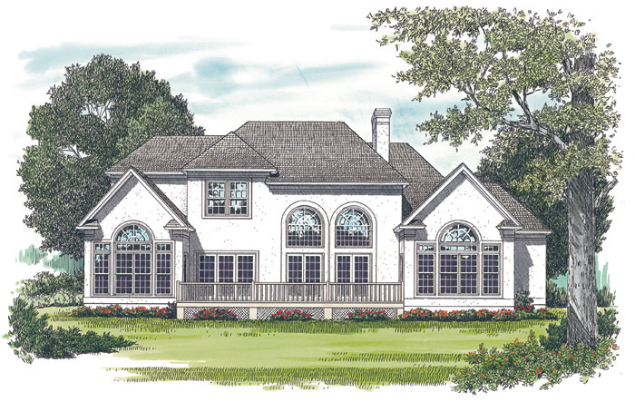 Arts and Crafts House Plan Color Image of House 129D-0021