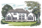 Arts and Crafts House Plan Color Image of House - 129D-0021 | House Plans and More