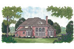 Southern House Plan Color Image of House - 129D-0023 | House Plans and More