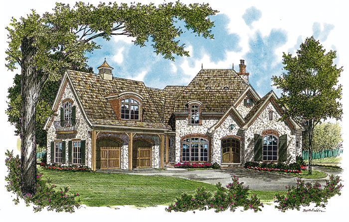 European House Plan Front Image 129S-0001