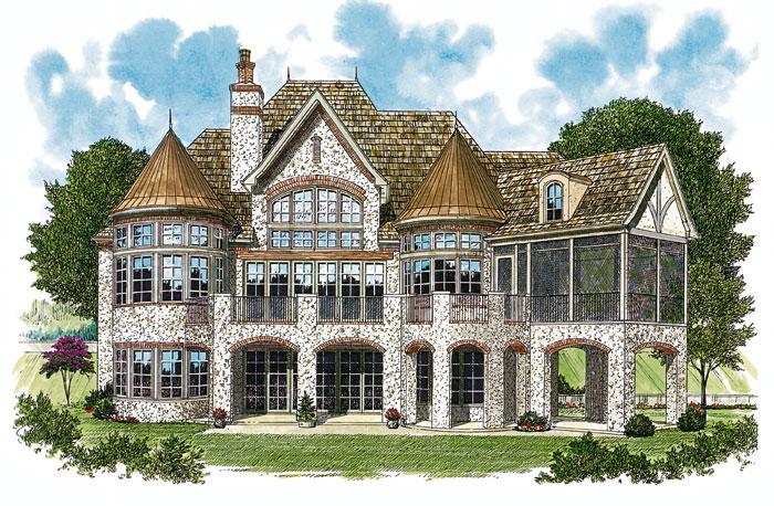 European House Plan Color Image of House 129S-0001