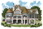 European House Plan Color Image of House - 129S-0001 | House Plans and More