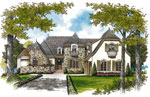 English Cottage House Plan Front Image - 129S-0003 | House Plans and More