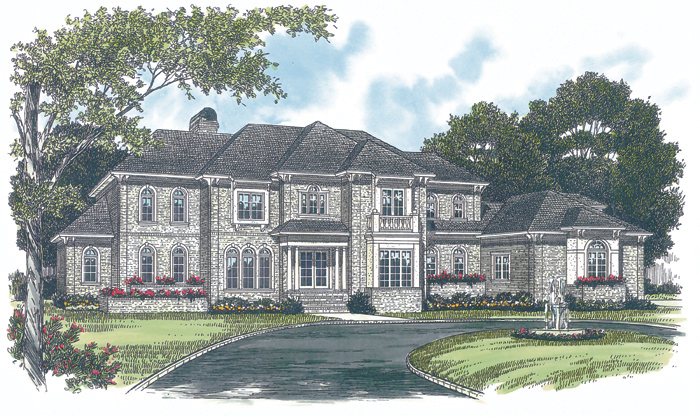 Luxury House Plan Front of Home - 129S-0004 | House Plans and More