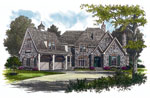 Luxury House Plan Front Image - 129S-0005 | House Plans and More