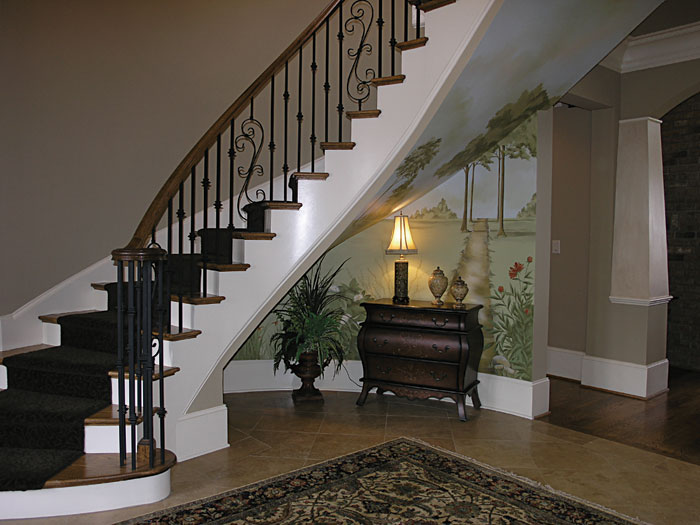 Arts and Crafts House Plan Stairs Photo 01 - 129S-0006 | House Plans and More