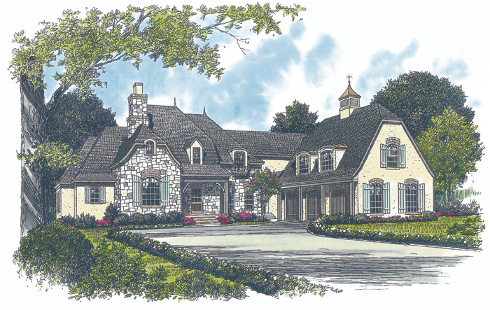 Luxury House Plan Front of Home - 129S-0007   House Plans and More