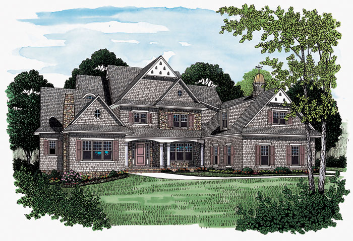 Cabin and Cottage Plan Front Image 129S-0008