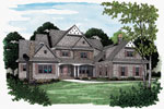 Cabin and Cottage Plan Front Image - 129S-0008 | House Plans and More