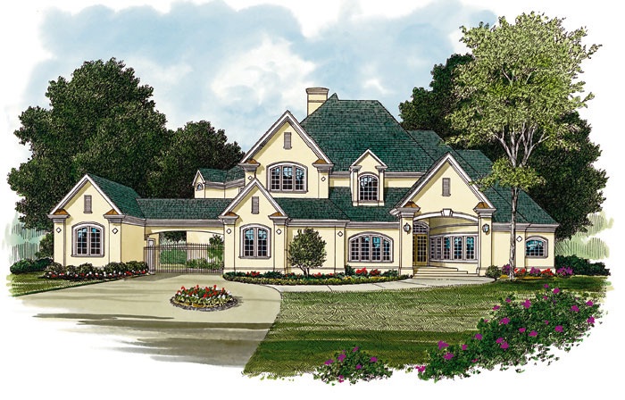 Luxury House Plan Front Image - 129S-0009 | House Plans and More