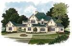 Mediterranean House Plan Front Image - 129S-0009 | House Plans and More