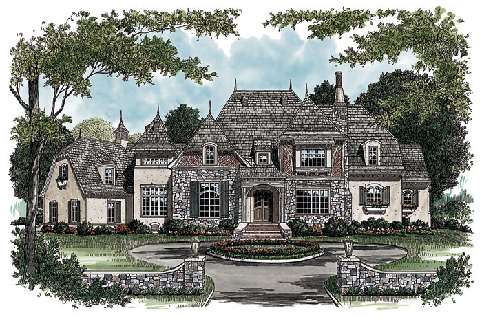 Luxury House Plan Front Image 129S-0010