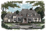 Luxury House Plan Front Image - 129S-0010 | House Plans and More