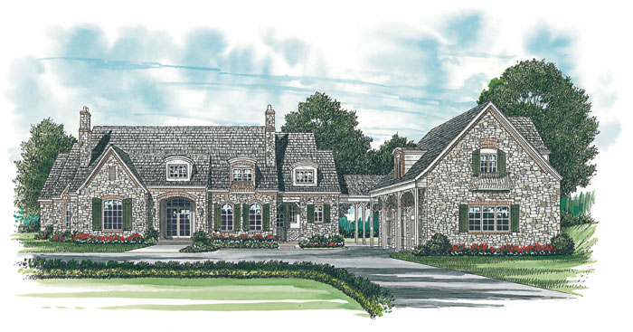 European House Plan Front Image 129S-0012