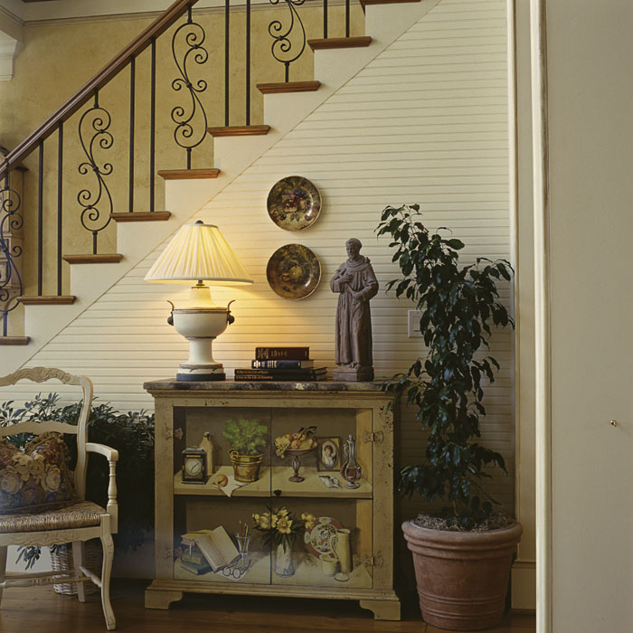 Early American House Plan Stairs Photo 01 - 129S-0012 | House Plans and More